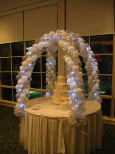 Cake Table Arch | by Bama Balloons