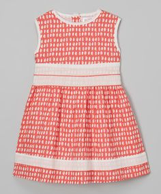 Look what I found on #zulily! Red Seashell A-Line Dress - Infant, Toddler & Girls #zulilyfinds
