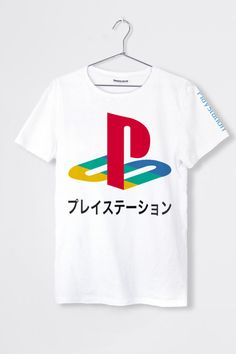 d0174caa2fd T-shirt boyfriend blanc imprimé Playstation Original