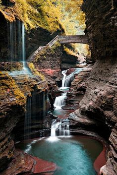 Watkins Glen State Park in Watkins Glen, New York - Would love to visit there someday...looks beautiful!