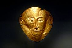 The Mask of Agamemnon which was discovered by Heinrich Schliemann in 1876 at Mycenae, now believed to pre-date the legendary Trojan War by 300 years Ancient City, Ancient Greece, Ancient History, European History, Ancient Aliens, Ancient Egypt, American History, Mycenaean, Minoan