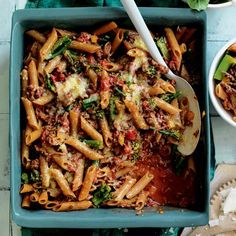 Beef and broccolini pasta bake | Australian Healthy Food Guide