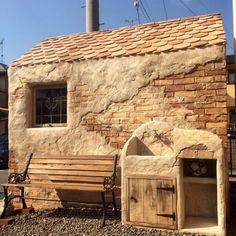 続 モルタル造形 バイク 小屋 - 華庭さんのココロ