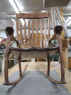 Sam Maloof inspired Rocking Chair - International Association of Penturners