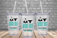 Cups for Beach Bachelorette Party - Personalized Beach Bachelorette Tumblers - Personalized Tumblers for Bachelorette Party
