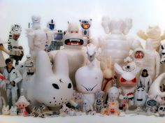 All white Selim Varol's vinyl toy collection. #collection #vinyltoy