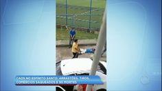 Veja policiais civis perseguindo suspeitos no Espírito Santo