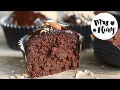 Gesunde Schoko Muffins | ohne Zucker, ohne Mehl backen mit Mrs Flury - YouTube Mrs Flury, Food And Drinks, Backen