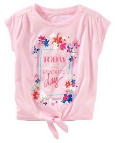 Bright Daisies Design OshKosh Baby Girls Graphic Tee Coral
