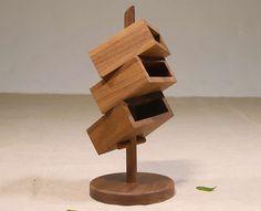 3 capas de oficina de madera Organizador de escritorio