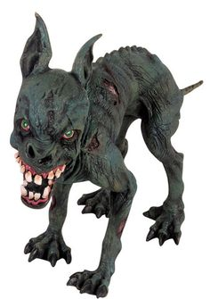 """Zombie Dog Includes (1) teeth-bearing zombie dog which is approximately 12""""…"""