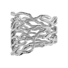 Vojd Studios Nest Openwork Silver Midi Ring ($168) ❤ liked on Polyvore featuring jewelry, rings, silver, polish jewelry, silver mid finger rings, mid knuckle rings, silver jewelry and silver jewellery