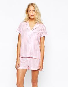 Image 1 of Oysho Striped Bed Nightshirt
