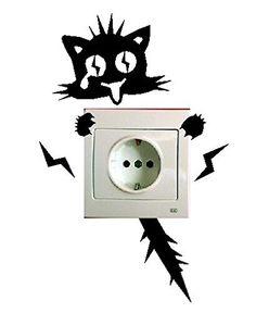Pegatina de gatito electrocutado - http://vinilos.info/producto/pegatina-de-gatito-electrocutado/ #GATOS #gatitos Vinilo realizado en España Se puede seleccionar el color a la hora de realizar el pago. ENVÍO GRATIS   #decoracion