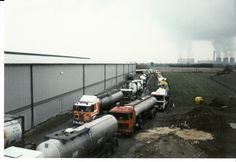 Tankers collecting water during drought early 1990's