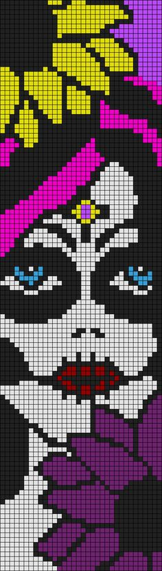 Sugar Skull pixel pattern by qwazy2