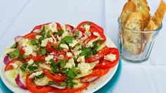 Summer Tomato, Fresh Cucumber and Red Onion Salad-The glorious salad of summer! http://atableatrobertridge.blogspot.com/2014/06/summer-tomato-fresh-cucumber-and-red.html