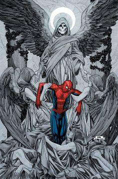 Death of Spider-Man by Frank Cho