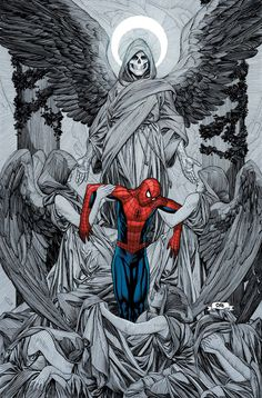 Death of Spider-Man by Frank Cho