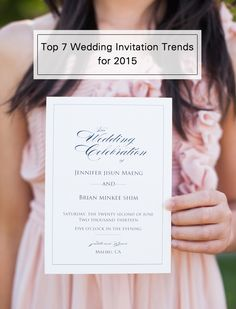 top 7 wedding invitation trends for 2015