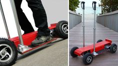 Four-Wheeled Personal Rover: A Segway For Cheapskates Money Saving Meals, Save Money On Groceries, Inexpensive Vacations, Electric Transportation, Parenting Styles, Cleaners Homemade, Frugal Living, Tech, Gadget