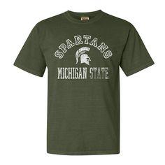 Men's Michigan State Spartans Pre Peak Comfort Tee, Size: Medium, Dark Green