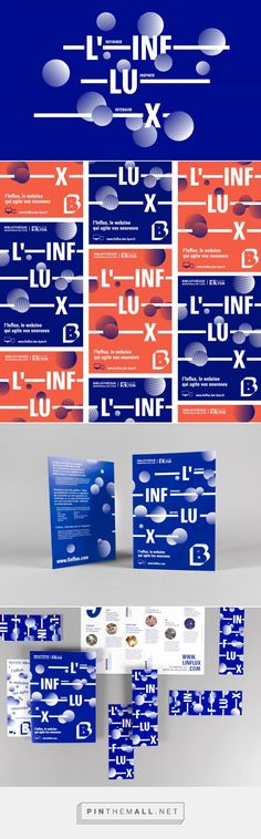 L'Influx - Brand design on Behance - created via https://pinthemall.net