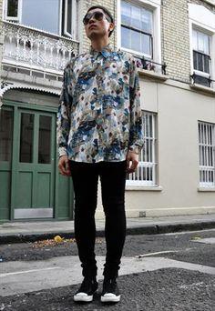 Vintage  Sirocco Pattern Silky Shirt