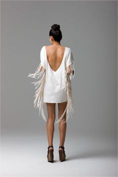 Fringe was so popular in the 70's. Fringed vests, purses and jackets were everywhere.