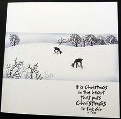 Hand-made Greetings Cards and Craft Projects made using Clear Stamps and Craft products Christmas Cards 2017, Christmas Card Crafts, Christmas Scenes, Xmas Cards, Holiday Cards, Cardio Cards, Card Io, Stamp Card, Watercolor Christmas Cards