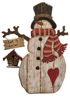 The Holiday Aisle Extra Large Wood Snowman Figurine Christmas Wood Crafts, Homemade Christmas, Christmas Art, Christmas Projects, Holiday Crafts, Christmas Ornaments, Holiday Decor, Wood Snowman, Diy Snowman