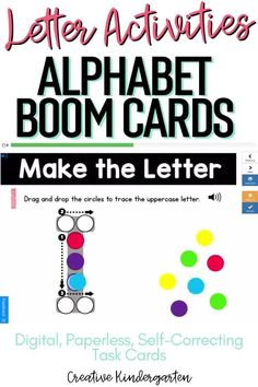 Reinforce uppercase and lowercase letter recognition, letter formation, and letter sounds with hands-on and engaging Boom Card activities. These digital task cards will work on learning to identify and name the letter J.Use this deck for letter of the day, letter of the week or all year to reinforce alphabet knowledge. This pack includes activities for uppercase and lowercase letters, letter discrimination, letter sounds, letter building, and sorting. Kindergarten Centers, Math Centers, Alphabet Activities, Kindergarten Activities, Letter Formation, Uppercase And Lowercase Letters, Literacy Skills, Letter Recognition, Letter Sounds