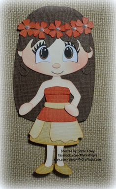 Disney princesa Moana Premade Scrapbooking adorno papel