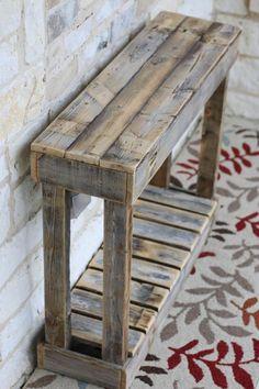 """36 """"Lamellenkonsole # Lamellenkonsole – Holz DIY Ideen – Famous Last Words Wooden Pallet Projects, Wooden Pallet Furniture, Wooden Pallets, Rustic Furniture, Furniture Ideas, Furniture Design, Pallet Wood, Cheap Furniture, Modern Furniture"""