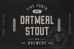 Oatmeal Stout - 5 Styles by Hustle Supply Co. on @creativemarket