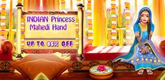 Buy Indian Princess Mehndi Hand & Foot Spa Salon Casual application source code for Android projects. Instant support to customize this Indian Princess Mehndi Hand & Foot Spa Salon app. Nail Salon Games, Indian Wedding Games, Make Over Games, Girl Makeover, Princess Face, Mehndi Patterns, Wedding Mehndi, Indian Princess, Games For Girls