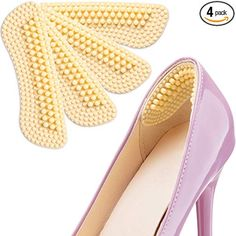 SMATIS Heel Pads 2 Pairs Heel Cushions Inserts for Womens and Mens Shoes High Heels Preventing Heel Rubbing and Blisters and Slip Out New Shoes, Men's Shoes, High Heel Inserts, Heel Balm, Foot Powder, Shoes Too Big, Comfortable Shoes, Wedding Shoes, Heeled Mules