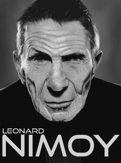 Leonard Nimoy (aka Spock). Gimp+Wacom Bambo, about 10 hours. Live long and prosper!