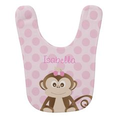 Personalized Monkey Baby Bib Bib