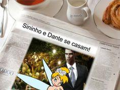 Manchete, jornal, Sininho e Dante se casam