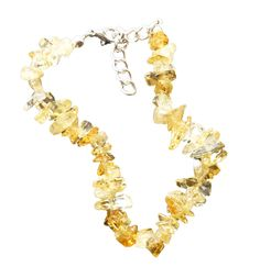 """Women's Crystal Citrine Bracelet, 8+1"""" Extender, Chips Stone Beads 5mm-7mm, Silver Plated Clasp. The symbol of wealth, prosperity and abundance. For Better energy and bodily function. Works in Accordance to throat chakra, the Heart chakra and the Solar Plexus chakra. Is a charm to start a new and fresh life, with hope for joyfulness, happiness and high spirits. The most important property of citrine is its ability to dispel negative energy."""