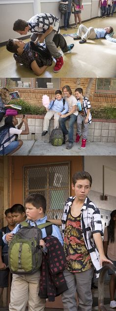 Poor Chuckles!!! Ethan Cutkosky as Carl Gallagher and Kellen Michael as Chuckie in Shameless (Season 5, episode 7)
