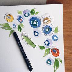 . . . . . . . #watercolor #painting #instaart #instagood #gosiaandhelena #botanical #instaflowers #flowers
