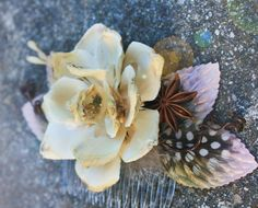 woodland flower head peice 'Autumn love song' by serenitycrystal, $35.00