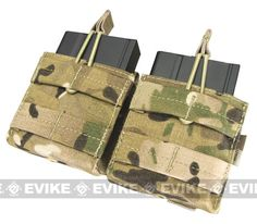 Condor Double M-14 / G3 / SCAR-H Open Top Dual Magazine Pouch - Multicam, Tactical Gear/Apparel, Pouches, Multicam Pouches - Evike.com Airsoft Superstore