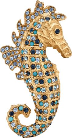 Brooch Sea Horse by Ciner - Brooch of the Month June 2017