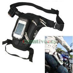New-Men-Tactical-Motorcycle-Racing-Riding-Hip-Bum-Fanny-Pack-Waist-Leg-Thigh-Bag