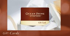 Order your Ocean Prime gift card today for the perfect holiday gift!