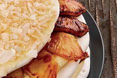 Pineapple Coconut Meringue Torte