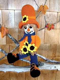 Maggie's Crochet · Clint the Cowboy Scarecrow